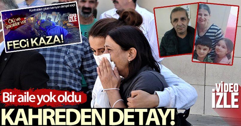 Burdur'daki feci kazada bir aile yok oldu