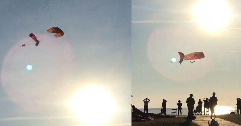 Fethiye'de paraşütler havada çarpıştı: 1 ağır, 3 yaralı