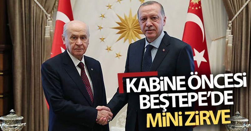 Cumhurbaşkanı Recep Tayyip Erdoğan bugün Bahçeli'yi kabul edecek