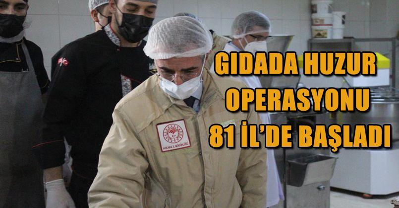 Gıdada Huzur Operasyonu Ankara'da Başladı
