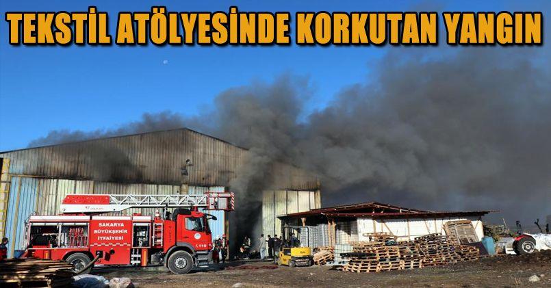 Tekstil atölyesinde korkutan yangın