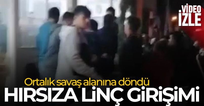 Bursa'da hırsıza linç girişimi!