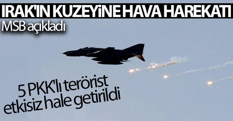 MSB: 'Zap bölgesinde tespit edilen 5 PKK'lı terörist etkisiz hâle getirildi'