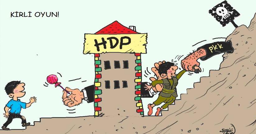 HDP önünde eylem yapan annelere bir destek de karikatür sanatçısından