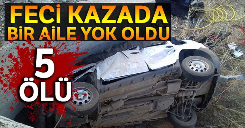 Feci kazada bir aile yok oldu: 5 ölü