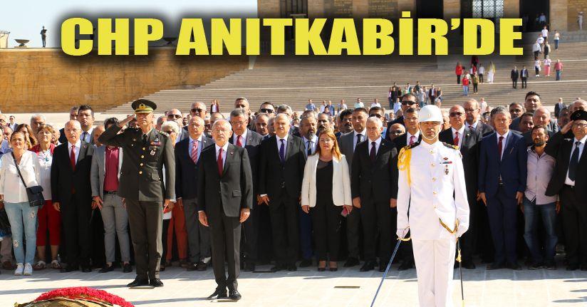 Kılıçdaroğlu başkanlığındaki CHP heyeti Anıtkabir'i ziyaret etti