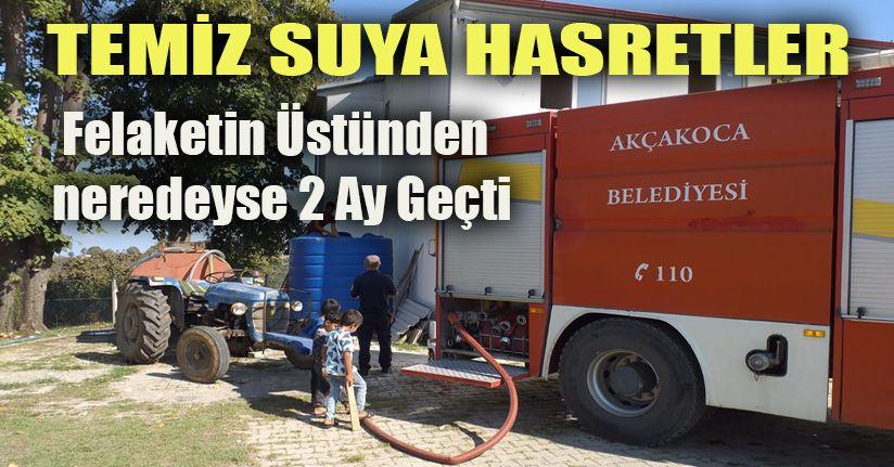 Akçakoca Belediyesinden köylere içme suyu desteği