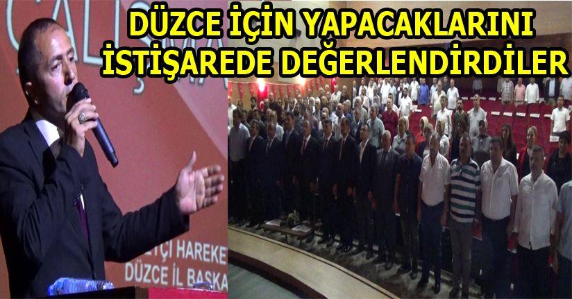 MHP Düzce Teşkilatı Genişletilmiş İstişare Toplantısında bir araya geldi