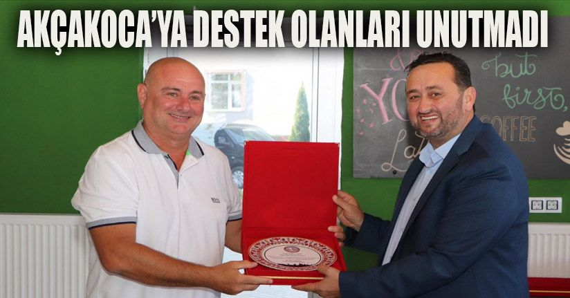 Başkan Yanmaz'dan festivale destek olan iş adamlarına plaket