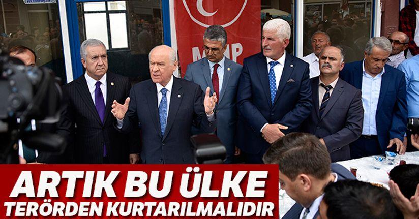 MHP Genel Başkanı Bahçeli: 'Artık bu ülke terörden kurtarılmalıdır'