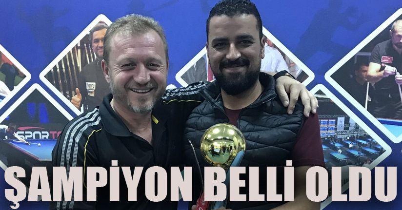 Bilardo il şampiyonu Salih Tekkeli