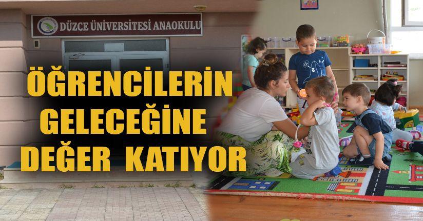 DÜ anaokulu çocuklarını geleceğe hazırlıyor