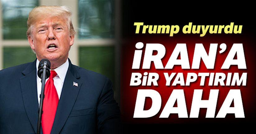 Trump duyurdu! 'İran Merkez Bankasına yaptırım kararı aldık'