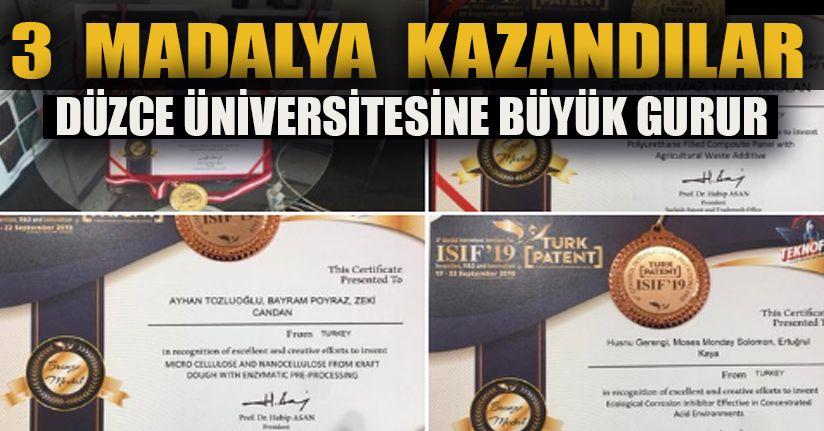 Düzce Üniversitesi 3 madalya kazandı
