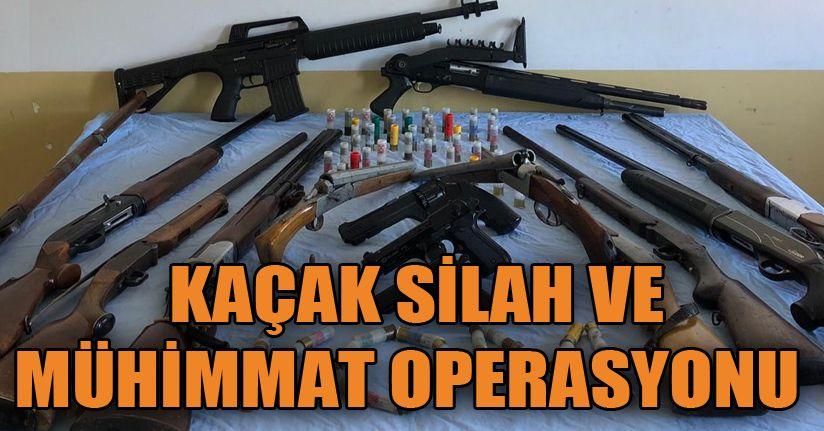 Kaçak silah ve uyuşturucu operasyonu: 3 gözaltı