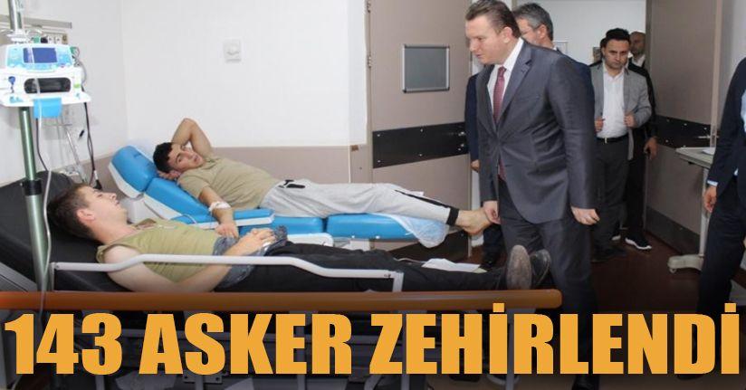 Sakarya'da 143 asker zehirlenme şüphesiyle hastaneye kaldırıldı