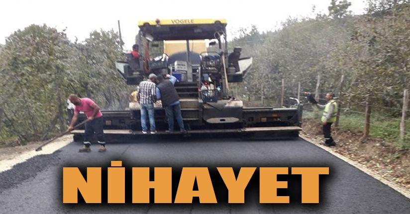 Göktepe- Koçar yoluna asfalt dökülüyor