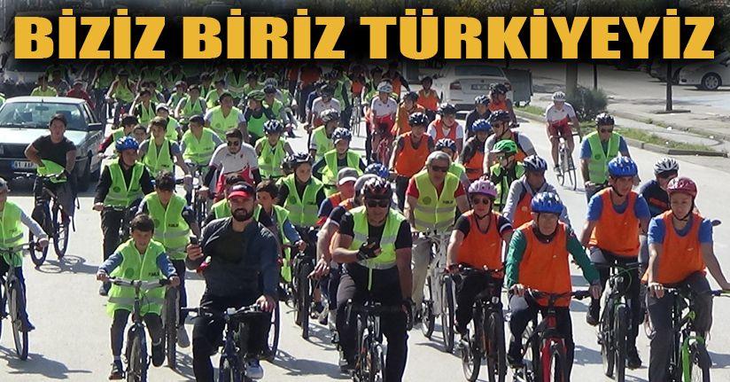 Bisikletçiler Mehmetçiğe Destek İçin Pedal Bastı