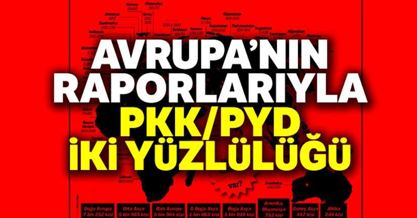Avrupa'nın raporlarıyla PKK/PYD iki yüzlülüğü