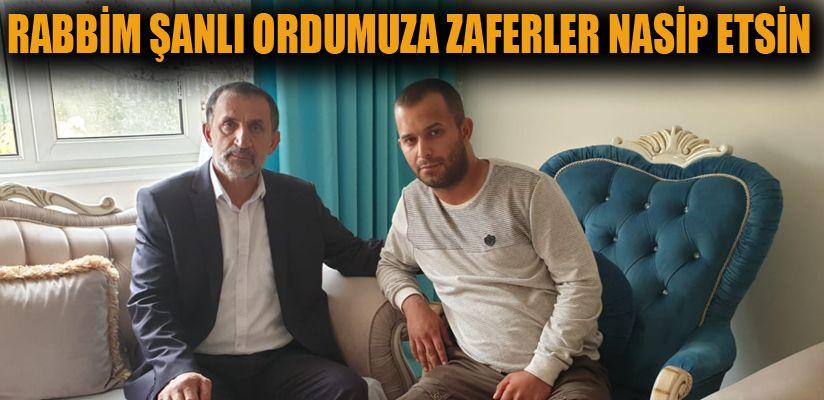 Barış Pınarı gazisine ziyaret