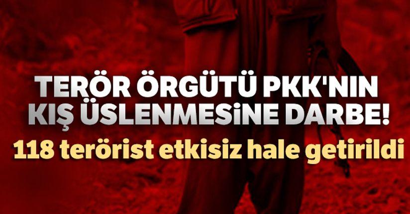Terör örgütü PKK'nın kış üslenmesine darbe!