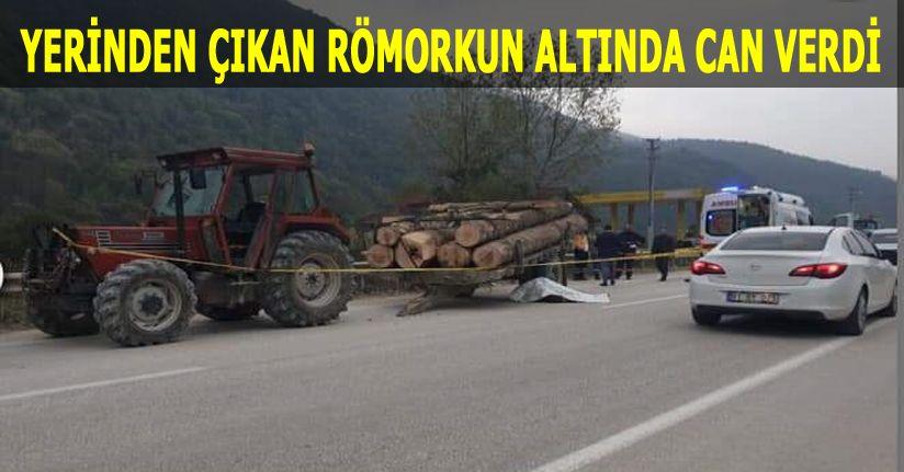 Tomruk taşıyan traktörün altında hayatını kaybetti