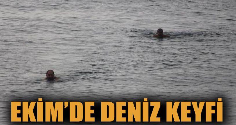 Akçakoca'da Ekim'de Deniz Keyfi