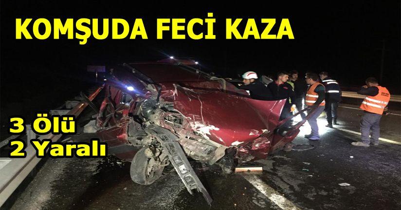 Zincirleme trafik kazası: 3 ölü, 2 yaralı