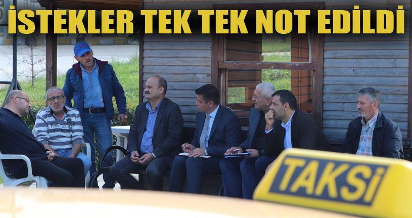 Akçakoca Belediyesi taksicilerin sorunlarını dinledi