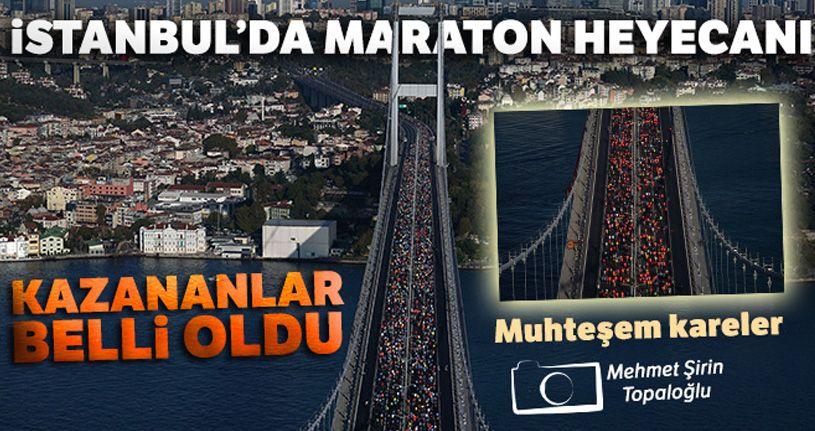 İstanbul'da maraton heyecanı! Kazananlar belli oldu