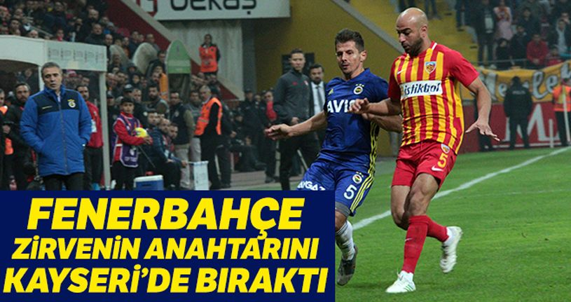 İM Kayserispor 1 - 0 Fenerbahçe
